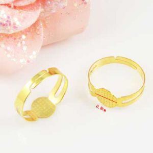 Ring base, Alloy, Gold colour, 1  piece, (LJP294)